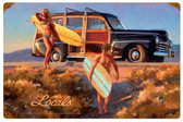 Locals Vintage Metal Sign 18 x 12 Inches