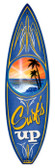 Vintage-Retro Surfs Up Surfboard Metal-Tin Sign