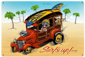 Surfs Up Vintage Metal Sign 36 x 24 Inches