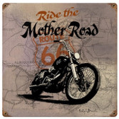 Route 66 Mother  Metal Sign 12 x 12 Inches