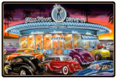 Blue Moon Drive In Metal Sign 36 x 24 Inches