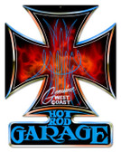 Vintage-Retro Hot Rod Garage Iron Cross Metal-Tin Sign