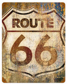 Route 66 Grunge  Metal Sign 12 x 15 Inches