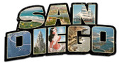 San Diego Landmarks Custom Shape Metal Sign 28 x 15 Inches