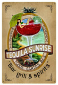 Tequila Bar & Spirits Metal Sign 24 x 36 Inches