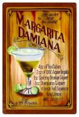 Margarita Damiana Recipe Metal Sign 24 x 36 Inches
