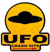 UFO Crash Site  Custom  Shape Metal Sign 16 x 16 Inches