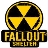 Fallout Shelter  Custom  Shape Metal Sign 16 x 16 Inches