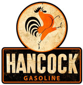 Hancock Old School Gasoline  Custom  Shape Metal Sign 16 x 16 Inches