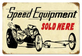 Vintage-Retro Speed Equipment Metal-Tin Sign