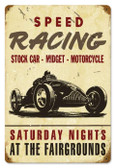 Vintage-Retro Speed Racing Metal-Tin Sign