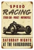 Vintage-Retro Speed Racing Metal-Tin Sign