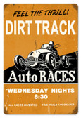 Vintage-Retro Dirt Track Metal-Tin Sign