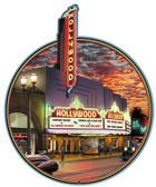 Hollywood TheaterCustom Metal Shape Sign 28 x 18 Inches