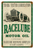 Vintage-Retro Race Lube Metal-Tin Sign