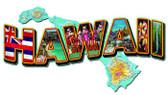Hawaii LandmarksCustom Metal Shape Sign 28 x 14 Inches