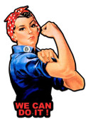 Rosie The Riveter We Can Do ItCustom Metal Shape Sign 23 x 16 Inches