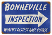 Vintage-Retro Bonneville Inspection Metal-Tin Sign