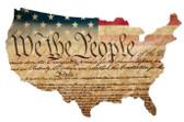 Constitution USA Custom Shape  Retro Metal Sign 25 x 16 Inches
