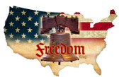 Freedom Working USA Custom Shape  Retro Metal Sign 25 x 16 Inches
