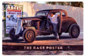 Retro  The Race Poster Metal Sign 36 x 24 Inches