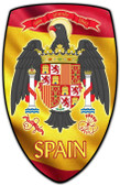 Spain Shield Custom Shape Metal Sign 15 x 24 Inches