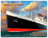 Queen Mary Custom Shape Metal Sign 22 x 28 Inches