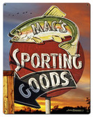 Sporting Goods Custom Shape Metal Sign 22 x 28 Inches