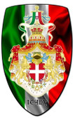Italy Shield Custom Shape Metal Sign 21 x 32 Inches