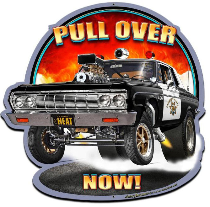 Pull Over Sign : Pull over now custom shape metal sign inches