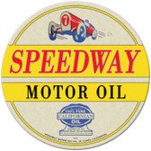 Vintage-Retro Speedway Oil Round Metal-Tin Sign