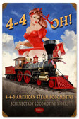 440 Steam Locomotive Metal Sign 12 x 18 Inches