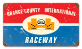 Vintage-Retro Orange County Raceway Metal-Tin Sign
