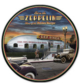 Eat In The Zep Round Metal Sign 14 x 14 Inches