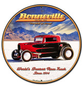Bonneville Round Metal Sign 28 x 28 Inches