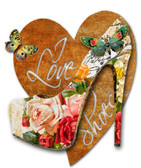 I Love Shoes 3D Rustic Sign 24 x 24 Inches
