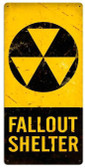 Fallout Shelter Retro Metal Sign 18 x 36 Inches