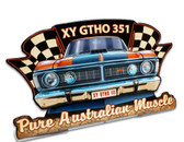 XY GTHO 351  Table Topper Metal Sign 6 x 4 Inches