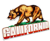 California Bear  Table Topper Metal Sign 11 x 7 Inches