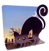 Black Cat 3D  Table Topper Metal Sign 7 x 7 Inches
