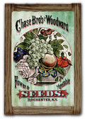 Chase Brothers Seeds  Corrugated Rustic Metal and  Barn Wood Sign 16 x 24 Inches