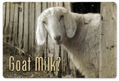 Goat Milk Metal Sign 18 x 12 Inches