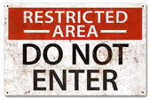 Restricted Area Metal Sign 18 x 12 Inches