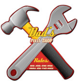Dads Fix it Shop Custom Shape Metal Sign 24 x 20 Inches