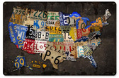 License Plate USA Board Metal Sign 18 x 12 Inches