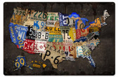 License Plate USA Board Metal Sign 24 x 16 Inches