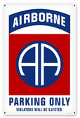 82nd Airborne Parking Metal Sign 12 x 18 Inches