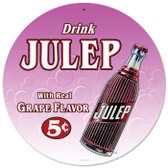 Vintage-Retro Drink Julip Round Metal-Tin Sign