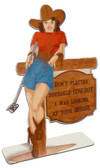 Cowgirl Saloon Table Topper 4 x 12 Inches