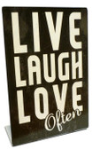 Live Laugh Love Table Topper 6 x 9 Inches